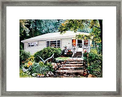 Chandos Lake Cottage Framed Print by Hanne Lore Koehler