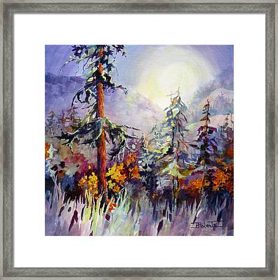 Changing Colours Framed Print