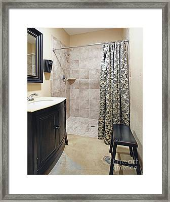 Changing Room And Shower Framed Print by Skip Nall