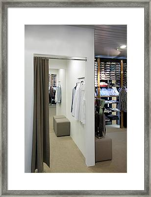 Changing Rooms Fitting Rooms Framed Print by Jaak Nilson