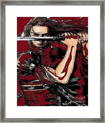 Chango Warrior Framed Print by Liz Loz