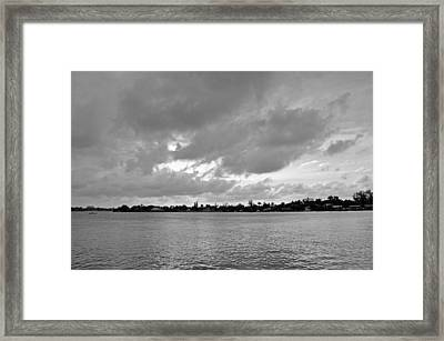 Channel View Framed Print
