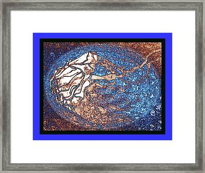 Chanson Bleu Fantasy Framed Print