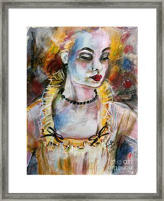 Chantalle And Her Sheer Blouse Framed Print by Ginette Callaway