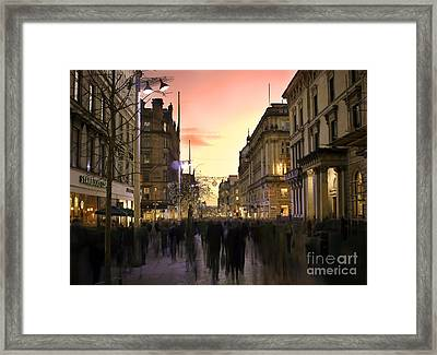 Chaos In The City Framed Print by Radoslav Toth