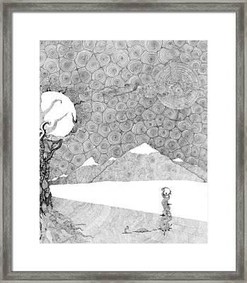 Chaos Terrain Framed Print by Christopher Rowan