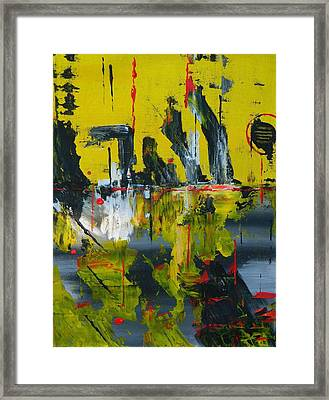 Framed Print featuring the painting Chaotic Vision by Everette McMahan jr