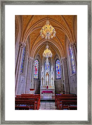Chapel At Sacred Heart Cathedral Framed Print by Dave Mills