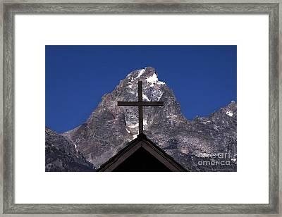 Chapel Cross Framed Print by Clare VanderVeen