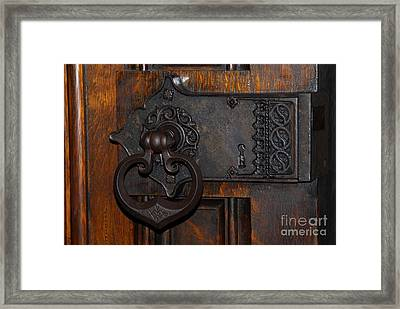 Framed Print featuring the photograph Chapel Door by Cindy Manero
