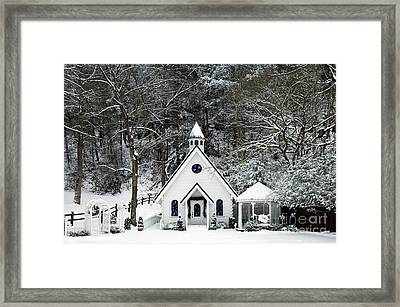 Chapel In The Snow - D007592 Framed Print by Daniel Dempster