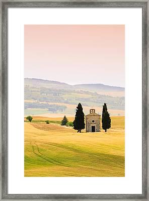 Chapel Of Our Lady Of Vitaleta Framed Print by Sergio Amiti