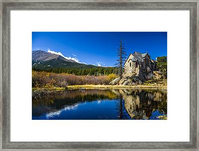 Chapel On The Rock Framed Print