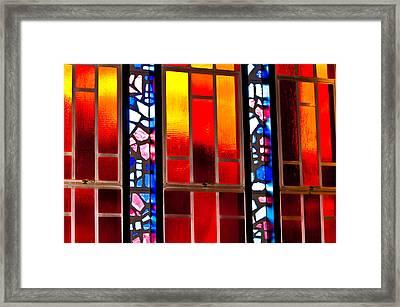 Chapel Shadows Framed Print