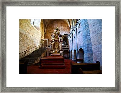 Chapel Trier Dom Framed Print by Rick Bragan