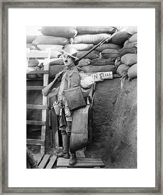 Chaplin: Shoulder Arms Framed Print by Granger