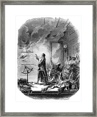 Chappe And The Transit Of Venus, 1761 Framed Print by