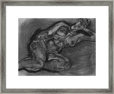 Charcoal Painting Framed Print by Piotr Antonow