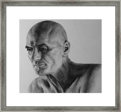 Charcoal Portrait Framed Print