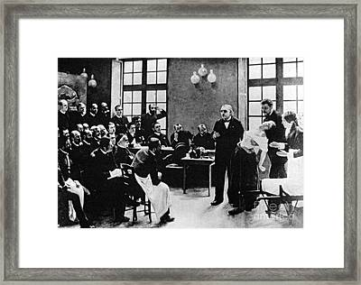 Charcot Demonstrating Hysterical Case Framed Print by Science Source