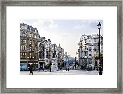 Charing Cross In London Framed Print by Elena Elisseeva