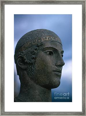 Charioteer Of Delphi Framed Print by Photo Researchers