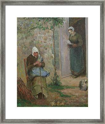 Charity Framed Print by Camille Pissarro