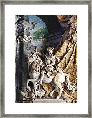 Charlemagne And Tencendur Framed Print by Donna Lee Blais