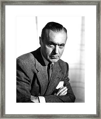 Charles Boyer, Paramount Pictures, 1958 Framed Print by Everett