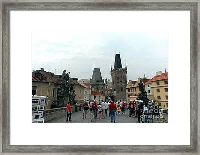 Charles Bridge In Prague Framed Print