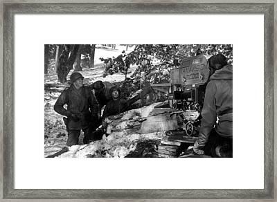 Charles Bronson And Cast Wait Framed Print