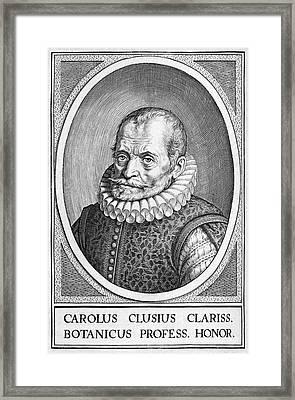 Charles De L'ecluse, Flemish Botanist Framed Print
