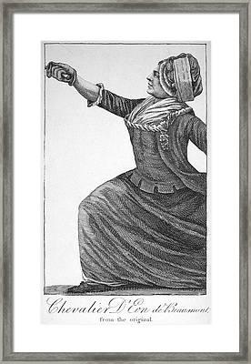 Charles Deon De Beaumont Framed Print by Granger