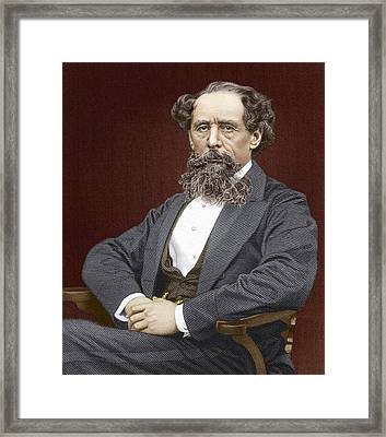 Charles Dickens, British Author Framed Print by Sheila Terry