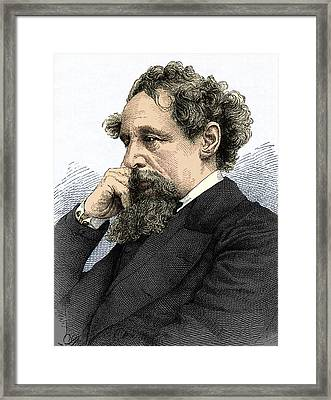Charles Dickens, English Author Framed Print by Sheila Terry