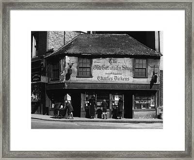Charles Dickens. The Old Curiosity Framed Print by Everett