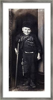 Charles Dickenss Character, Tiny Tim Framed Print by Everett