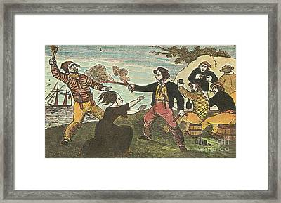 Charles Gibbs, American Pirate Framed Print by Photo Researchers