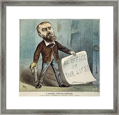 Charles Guiteau Cartoon Framed Print by Granger
