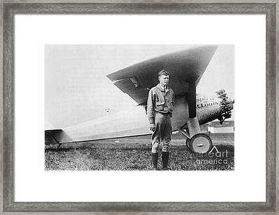 Charles Lindbergh American Aviator Framed Print by Photo Researchers