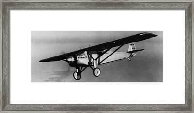 Charles Lindbergh Flying His Plane Framed Print