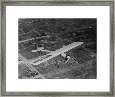 Charles Lindbergh Flying His Plane The Framed Print