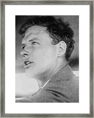 Charles Lindbergh, Us Aviation Pioneer Framed Print by Science, Industry & Business Librarynew York Public Library