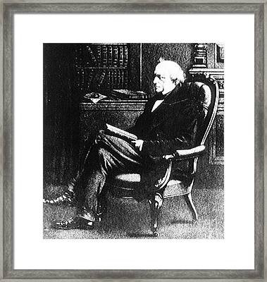 Charles Lyell, English Geologist Framed Print by Science Source