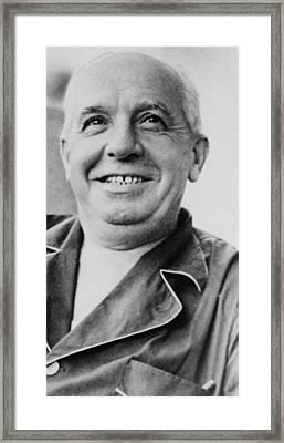 Charles Ponzi 1882�1949, Wearing Framed Print by Everett
