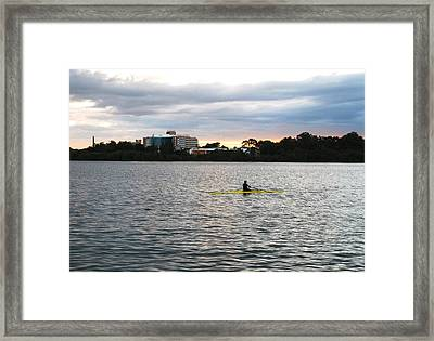 Charles River Framed Print by Nian Chen