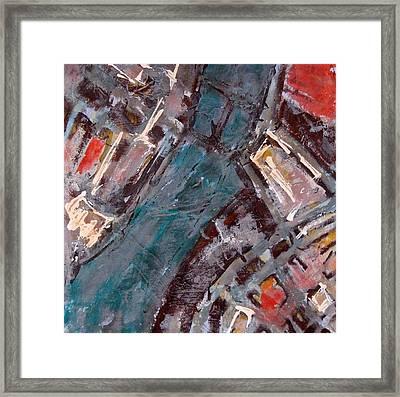 Charles River Plan Framed Print by Romina Diaz-Brarda