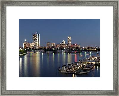 Charles River Yacht Club Framed Print by Juergen Roth