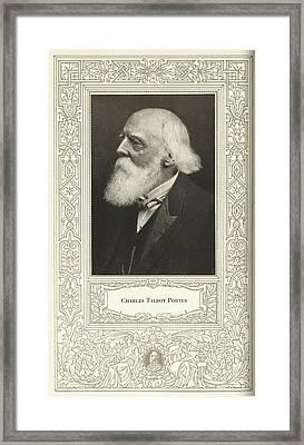 Charles Talbot Porter, Us Engineer Framed Print