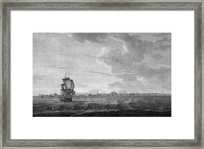 Charleston. A View Of Charles-town Framed Print by Everett